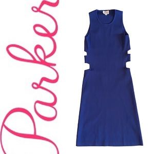PARKER Zelda dress in blue